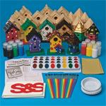 Wooden Birdhouses Craft Kit (makes 24)