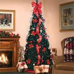 6' Pull-Up Red/Gold Pre-decorated Tree