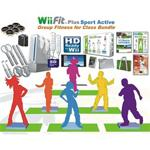 Wii Fit Plus Sport Active Group Fitness Bundle