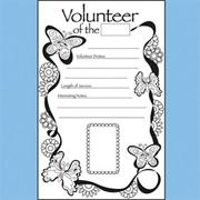 Volunteer of the Month Recognition Poster Pad 