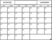Paper Activity Calendar Pads, 17-1/2&quot;x22-1/2&quot;