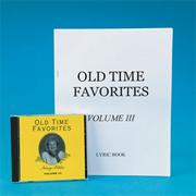 Old Time Favorites Sing-Along, Vol. III CD