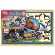 2-in-1 Puzzle Box, Horse Breeds
