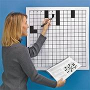Laminated Blank Crossword Puzzle Grid