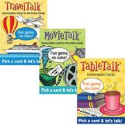 Table Talk� Card Set: Table Talk, Movies and Travel (set of 3)