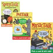 Table Talk Card Set: Music, Pets and Sports (set of 3)