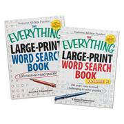 Everything Large Print Word Search Books (set of 2)