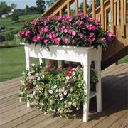 36&quot; Deluxe Garden Planter with Shelf