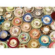 Cups and Saucers Large Piece Puzzle