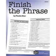 Finish the Phrase Book