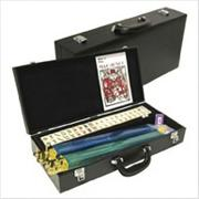 Western Mah Jong Set in Black Leatherette