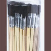 Bristle Brush Assortment Pack , Black (pack of 72)