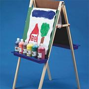 Heavy-Duty Double School Easel w/ Paper Roll
