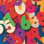 Color Splash! Foam Shapes w/ Adhesive - Numbers, 600 pcs.