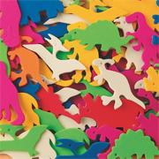 Color Splash! Foam Shapes w/ Adhesive - Dinosaurs, 600 pcs.