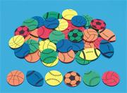 Color Splash! Sports Shapes w/Adhesive, 500 pcs.