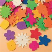 Color Splash! Foam Flower Assortment, 1/2 lb. (tub of 360)
