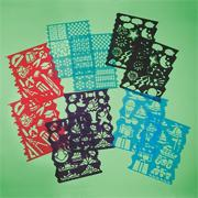 Plastic Stencils Assorted Designs (pack of 10)