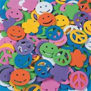 Color Splash! Shapes w/ Adhesive  Peace Signs, 400 pcs.