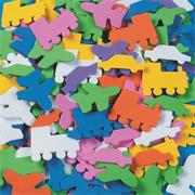 Color Splash!� Shapes w/ Adhesive � Planes, Trains & Autos, 400 pcs.