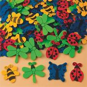 Color Splash!� Foam Shapes w/ Adhesive � Bugs and Butterflies, 400 pcs.