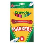 Crayola� Classic Markers - Fluorescent  (box of 6)