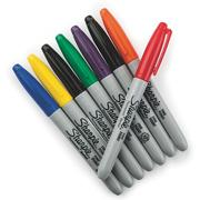 Sharpie Permanent Markers, Fine Point  (set of 8)