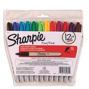Fine Point Sharpie Permanent Markers  (set of 12)