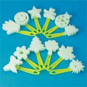 Sponge-Shaped Foam Brushes (set of 12)