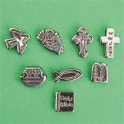 Metallic Christian Symbol Beads (bag of 200)