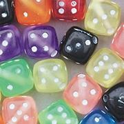 Assorted Color Dice Beads 1/2-lb  (bag of 420)