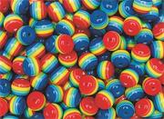 Rainbow Beads, 1/2-lb  (bag of 650)