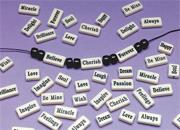 Inspirational Beads, 1/16mm x 5/16&quot; x 3/4&quot; in 2 Lengths (bag of 144)