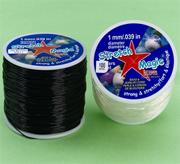 Black Stretch Magic Jewelry Cord, 100-meter spool