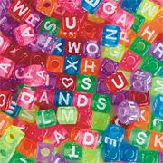 Glitter Alphabet Beads 1/2 lb., 4x7mm (bag of 500)