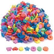 Assorted EVA Foam Beads, 2x25.4mm (bag of 500)