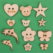 Assorted Wooden Craft Buttons (bag of 360)