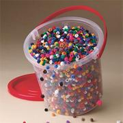 Fuzzy Pony Bead Bucket