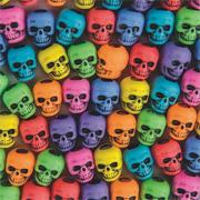 Assorted Color Skull Beads