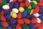 Grooved Wood Beads  (bag of 100)