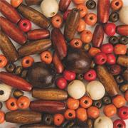 Wooden Jewelry Beads Mix  (bag of 100)