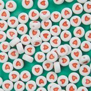Plastic Heart Beads, 6mm  (bag of 100)