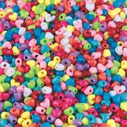 Heart Pony Beads 1 lb., 12mm  (bag of 1100)