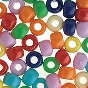 Jumbo Plastic Crow Beads (bag of 800)