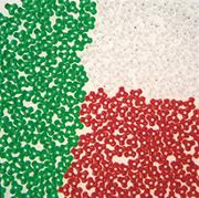 Holiday Tri-Bead Assortment, 3lbs  (bag of 9300)