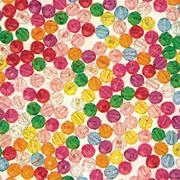 Multicolor Faceted Plastic Beads Assorted (bag of 2144)