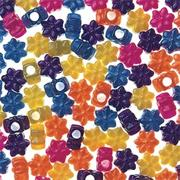 Flower Pony Beads 8-oz. - Pearl  (bag of 600)