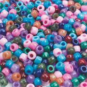 Pony Beads 6mm 8-oz - Semiprecious Colors  (bag of 700)