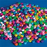 Pastel Alpha Beads, 1/2 lb. (bag of 600)