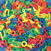 Neon Alpha Charm Beads, 1/2-lb  (bag of 380)